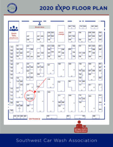 Location of booth in expo is circled